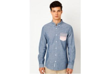 Breton Pocket Chambray Shirt