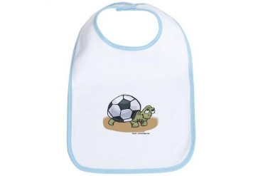 Soccer Turtle Design Bib by CafePress