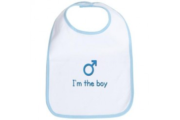 I'm the boy twin Baby Bib by CafePress