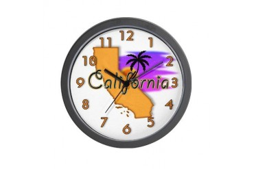 California Travel Wall Clock by CafePress