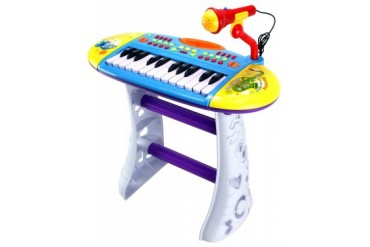 Velocity Toys Portable Fun Piano Musical Instrument Toy Keyboard Playset