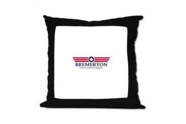 Bremerton Pride Location Suede Pillow by CafePress