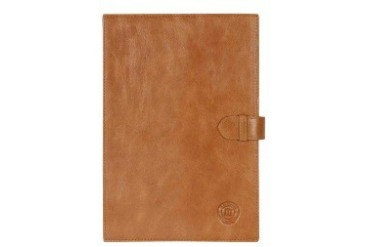 Leather classic folio case for Galaxy Tab 2 10.1 - Golden tan