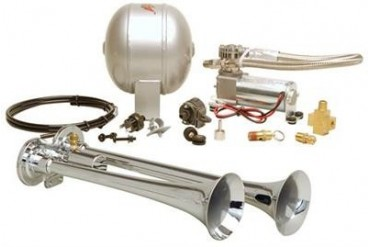 Kleinn Train Horns Complete dual truck air horn package with 120 psi sealed air system  HK2 Kleinn Complete Kits
