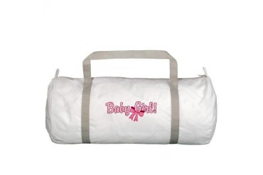 Baby Girl Bow Baby Gym Bag by CafePress