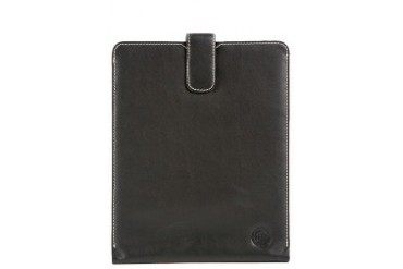 Leather slip cover for iPad - Smooth black Case