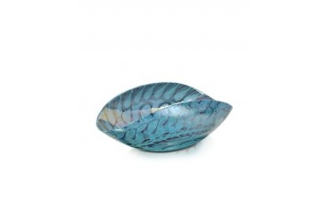 Belus - Medium Turquoise Folded Murano Glass Dish