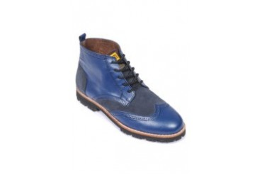 Blue Lace-up Boots