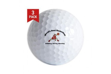 Worlds Best Basketball Cool Golf Balls by CafePress