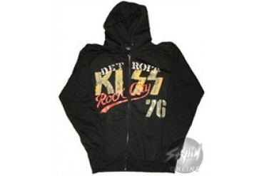 Kiss Detroit Rock City 76 Full Zipper Hooded Sweatshirt