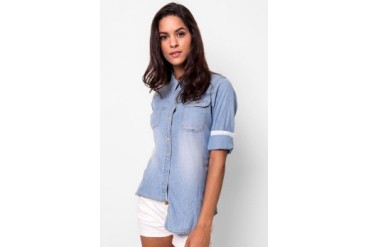 Heath Shirt Chambray Baby Blue