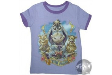 Disney Winnie the Pooh Eeyore Tiki Kingdom Girls Youth T-Shirt