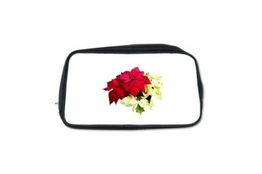 Poinsettias Red and Yellow Christmas Toiletry Bag by CafePress
