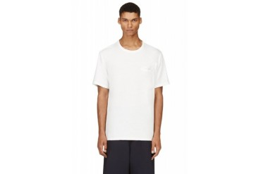 T By Alexander Wang White Distressed T shirt