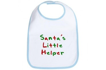 Santa's Little Helper Humor Bib by CafePress