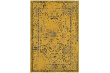 Sphinx Revival Traditional-Persian Oriental Gold Bordered Faded Area Rug
