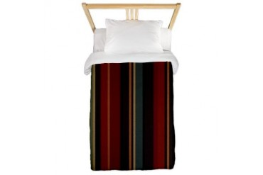 Striped Gypsy Cool Twin Duvet by CafePress
