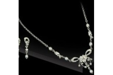 AA Bridal Necklace & Earring Set NE988