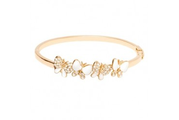 Gold amp Crystal Butterfly Bangle