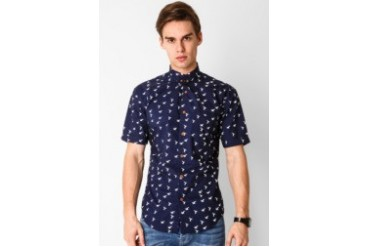 Travis Jeans & Co Bird Printed Shirt