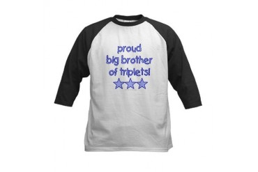 Big brother of triplets Twins Kids Baseball Jersey by CafePress