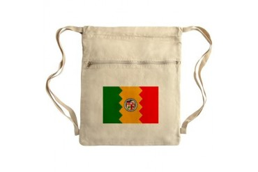 Los Angeles Flag Sack Pack Art Cinch Sack by CafePress