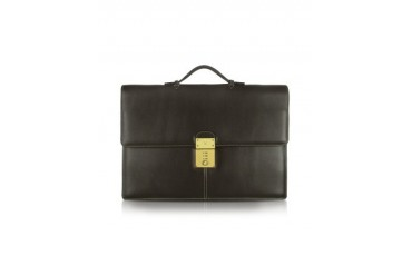 Calf Leather Double Gusset Briefcase
