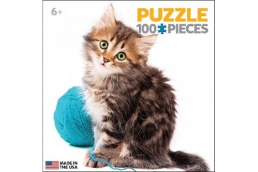 Kitten with Wool Mini 100 Piece Puzzle