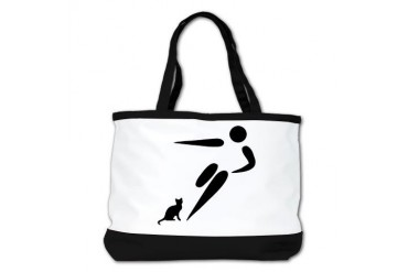 Kick Cat Funny Shoulder Bag by CafePress