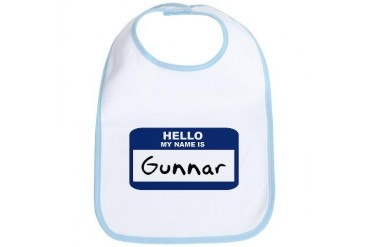 Hello: Gunnar Name Bib by CafePress