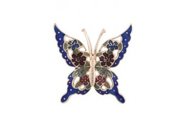 eslystyle.com Handpainetd Floral Butterfly Brooch
