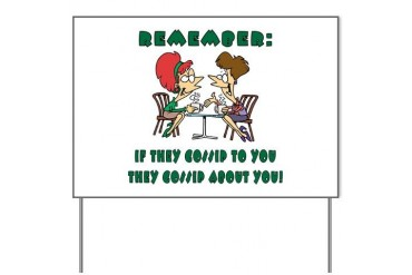 GOSSIP Cafe Yard Sign by CafePress