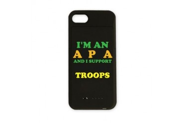 ALPHA Supports US ARMY Army iPhone Charger Case by CafePress