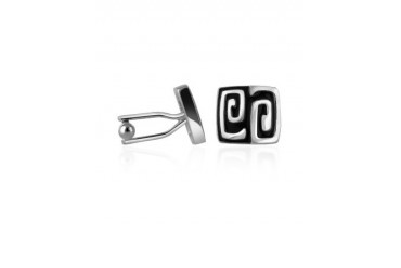 Silver Plated Square Deco Cufflinks