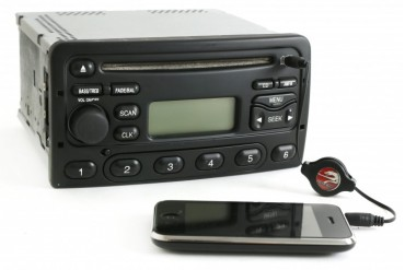 Mercury Cougar Ford Focus 2000-04 AM FM CD Radio w Aux Input 1S4F-18C838-BA