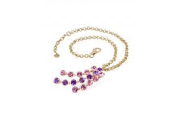 Pink & Amethyst Gold-plated Necklace