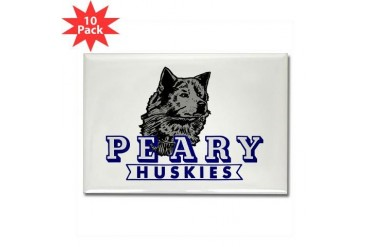 Husky Logo Magnet 10 pack Cupsthermosreviewcomplete Rectangle Magnet 10 pack by CafePress