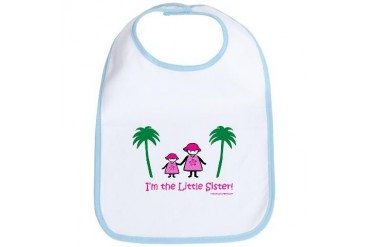 I'm the Little Sister Family Bib by CafePress