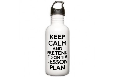 Keep Calm Plan Stainless Water Bottle 1.0L