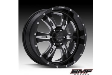 BMF Wheels REHAB, 20x9 with 6 on 5.5 Bolt Pattern - Death Metal Black and Machined 464B-090613900 BMF Wheels