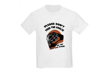 Don't Feed the Goalie Kids T-Shirt