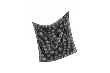 Black Signature Silk Square Scarf