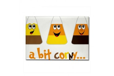 A Bit Corny Holiday Rectangle Magnet by CafePress