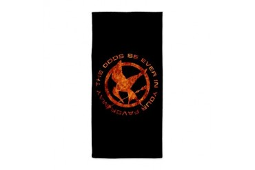 Hunger games fun Beach Towel