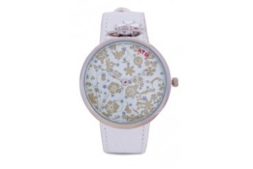 A Time Machine ATM 1006WSW White PU Strap Watch