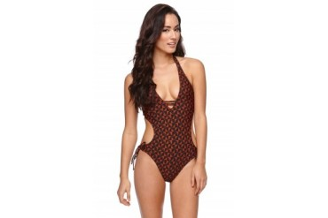 Womens Rvca Swimwear - Rvca Dooma One Piece Bathing Suit