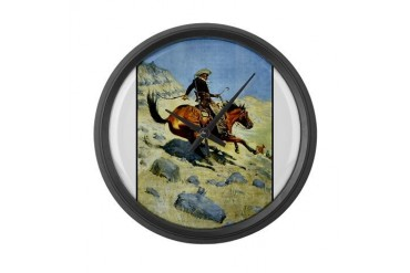 Best Seller Cowboy Western Large Wall Clock by CafePress