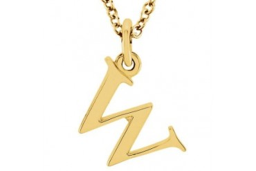 itial Pendant in 18K Yellow Gold Vermeil Amazing Price Offer Latest Fashion