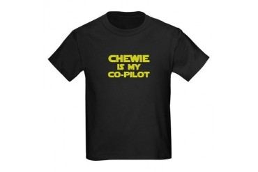 Chewie is my Co-pilot Kids Dark T-Shirt