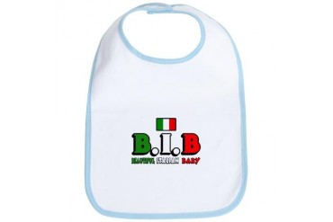 B.I.B Beautiful Italian Baby Baby Bib by CafePress